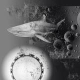 Collage abstrait noir et blanc Le concept Image libre de droits