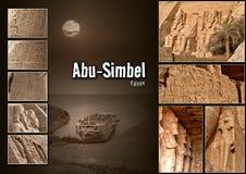 Collage 002. Abu Simbel (Egypt Royalty Free Stock Images