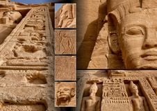 Collage 001. Abu Simbel (Egypt Royalty Free Stock Photos