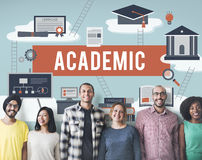 Collage Academic Education Institution Concept stock photos