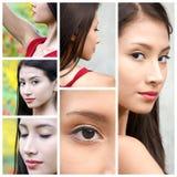 Collage adolescente bastante femenino Fotos de archivo