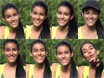 Collage adolescente bastante femenino feliz Fotografía de archivo libre de regalías