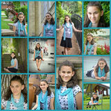 Collage adolescente del retrato de la muchacha fotos de archivo