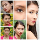 Collage adolescente femenino peruano joven Fotografía de archivo libre de regalías