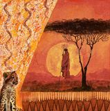 Collage Africa Fotografia Stock
