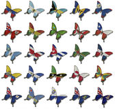 Collage from African flags on butterflies Royalty Free Stock Image