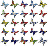 Collage from African flags on butterflies Royalty Free Stock Photos