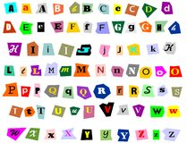 Collage Alphabet Stock Images