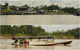 Collage of amazonia ,Peru my photos . Royalty Free Stock Photos