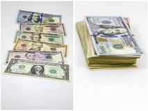 Collage americano del mucchio della carta dei contanti Immagine Stock