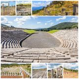 Collage of Ancient Messina,  Greece Royalty Free Stock Photo