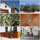 Collage of summertime in Andalusia, Spain Royalty Free Stock Photo