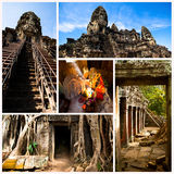 Collage, Angkor Wat. Cambodia. Royalty Free Stock Photo