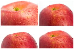 Collage. Apple close-up Stock Images
