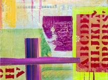 Collage artwork stock illustration