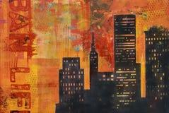 Collage artwork Stock Image