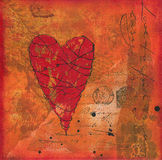 Collage artwork with heart Royalty Free Stock Image