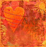 Collage artwork with heart Royalty Free Stock Photos