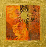Collage artwork with sun Royalty Free Stock Images