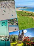 Collage of Asturias Spain Europe.  Royalty Free Stock Images