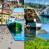 Collage of Asturias Spain Europe.  Royalty Free Stock Photography