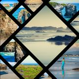 Collage of Asturias Spain Europe.  Stock Image