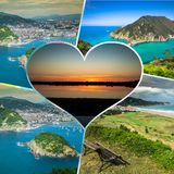 Collage of Asturias Spain Europe.  Royalty Free Stock Photo
