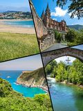 Collage of Asturias Spain Europe.  Stock Images