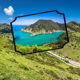 Collage of Asturias Spain Europe.  Stock Photos