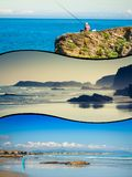 Collage of Asturias Spain Europe.  Royalty Free Stock Photos