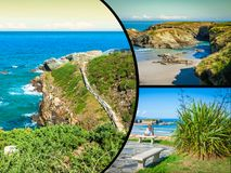 Collage of Asturias Spain Europe.  Stock Photography