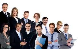Collage av affärsexperter arkivbilder