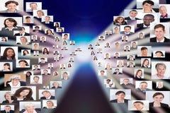 Collage av affärsfolk royaltyfri fotografi