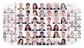 Collage av affärsfolk Arkivfoto