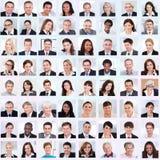 Collage av att le för affärsfolk royaltyfria foton