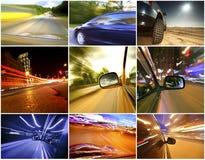 Collage av bilar arkivfoto