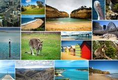 Collage av bilder från Australien Arkivbild