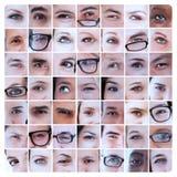 Collage av bilder med ögon Royaltyfri Bild