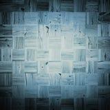 Collage av blått skrapade träfyrkanter Arkivbild