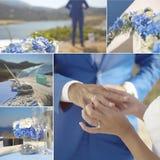 Collage av bröllopdetaljer arkivfoto