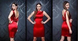 Collage av den härliga modemodellen royaltyfria foton