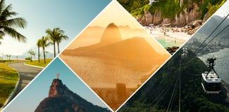 Collage av det Rio de Janeiro loppet royaltyfri foto