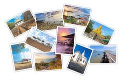 Collage av det turist- fotoet Royaltyfria Bilder