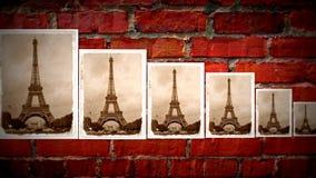Collage av Eiffeltorn Arkivbild