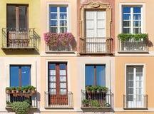 Collage av fönster fotografering för bildbyråer