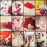 Collage av förälskelse och romans royaltyfria bilder