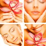 Collage av flera foto för skönhetbransch Royaltyfri Foto