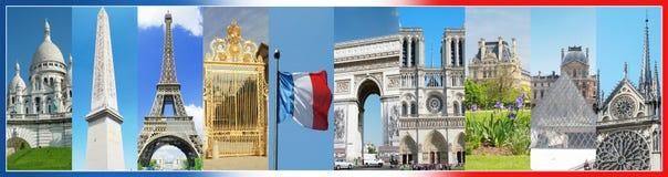 Collage av foto av Paris Fotografering för Bildbyråer