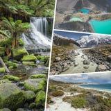 Collage av foto från Australi och Nya Zeeland - mina foto Royaltyfri Fotografi