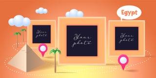 Collage av fotoet inramar vektorillustrationen stock illustrationer